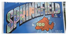 Greeting From Springfield Usa Hand Towel