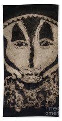 Greetings From New Guinea - Mask - Tribesmen - Tribesman - Tribal - Jefe - Chef De Tribu Hand Towel