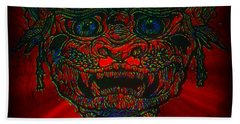 Gremlin In Dynamic Color Hand Towel
