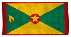 Grenada Flag Vintage Distressed Finish Bath Towel