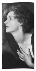 Greta Garbo Portrait Hand Towel