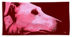 Greyhound Profile Hand Towel by Clare Bevan