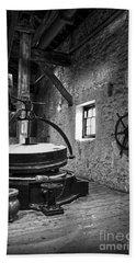 Grinder For Unmalted Barley In An Old Distillery Bath Towel