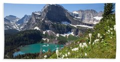 Grinnell Lake With Beargrass Hand Towel