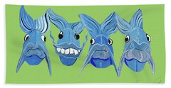 Grinning Fish Bath Towel