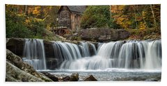 Grist Mill With Vibrant Fall Colors Hand Towel