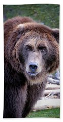 Grizzly Bath Towel by Athena Mckinzie