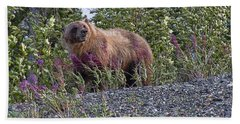 Grizzly Bath Towel by David Gleeson