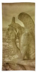Grotesque From Notre Dame Bath Towel