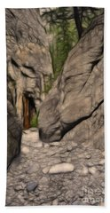 Grotto Canyon Fractal Hand Towel