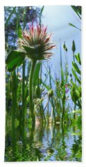 Ground Level Flora Hand Towel by Joyce Dickens
