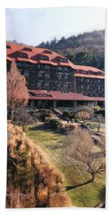 Grove Park Inn In Early Winter Hand Towel