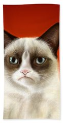 Grumpy Cat Hand Towel
