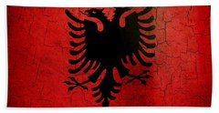 Grunge Albania Flag Bath Towel