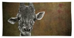 Grungy Giraffe 5654 Brown Bath Towel