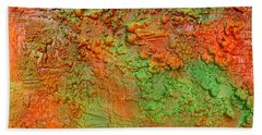 Orange Abstract New Media  Bath Towel