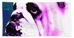 Grunt - Bulldog Pop Art By Sharon Cummings Hand Towel