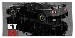 Gtr In The Rain Hand Towel by Peter J Sucy