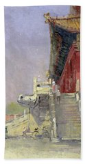 Guarded Steps, 1998 Oil On Canvas Hand Towel