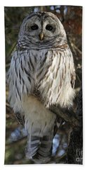 Bath Towel featuring the photograph Guardian Of The Forest by Heather King