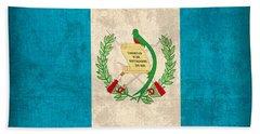Guatemala Flag Vintage Distressed Finish Bath Towel