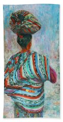Hand Towel featuring the painting Guatemala Impression I by Xueling Zou