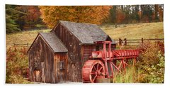 Hand Towel featuring the photograph Guildhall Grist Mill by Jeff Folger