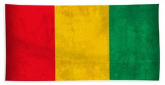 Guinea Flag Vintage Distressed Finish Bath Towel