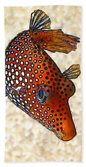 Guinea Fowl Puffer Fish Hand Towel by ABeautifulSky Photography