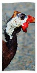 Guinea Hen Bath Towel