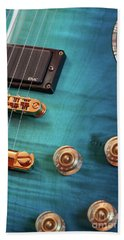 Hand Towel featuring the photograph Guitar Blues by Joy Watson