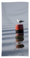 Gull Hand Towel by Spikey Mouse Photography
