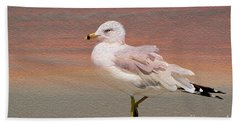 Gull Onthe Beach Bath Towel