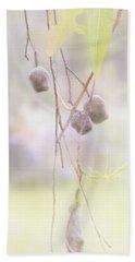 Gum Nuts Bath Towel by Elaine Teague