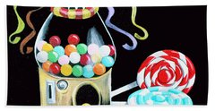 Gumball Machine And The Lollipops Bath Towel