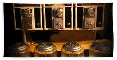 Gumball Memories - Row Of Antique Vintage Vending Machines - Iconic New York City Bath Towel