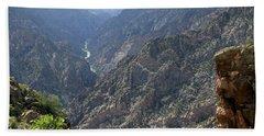 Gunnison River Winding Through The Mountains Bath Towel