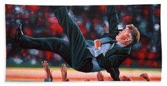 Guus Hiddink Hand Towel by Paul Meijering