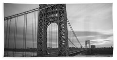 Gw Bridge Winter Sunrise Bath Towel