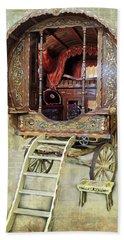 Gypsy Wagon Bath Towel by Mim White