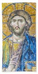 Hagia Sofia Jesus Mosaic Hand Towel by Antony McAulay