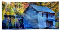 Hagood Mill With Sunrays Hand Towel