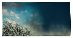 Hand Towel featuring the photograph Hail Storm Obscures Ireland's Blue Sky by James Truett