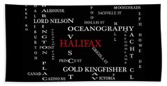 Halifax Nova Scotia Landmarks And Streets Hand Towel