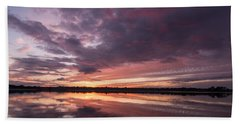 Halifax River Sunset Hand Towel by Paul Rebmann