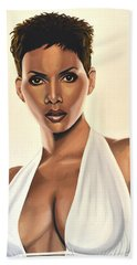 Halle Berry Painting Hand Towel
