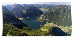 Hallstatt Lake Austria Bath Towel