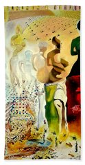 Bath Towel featuring the painting Halucinogenic Toreador By Salvador Dali by Henryk Gorecki