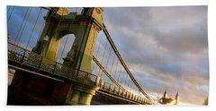 Hammersmith Bridge In London Hand Towel