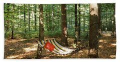 Hammock In A Forest, Baden-wurttemberg Hand Towel